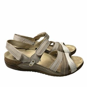 Mephisto Air Relax Tri-tone Leather Sandals
